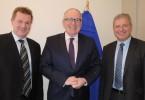 Markus Pieper (CDU) und Markus Ferber (CSU) diskutierten heute mit dem ersten Vizepräsidenten der EU-Kommission, Frans Timmermans, über schlankere Gesetzgebung und bessere Bedingungen für KMU.